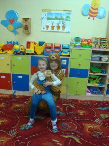 miś i dziecko